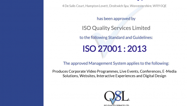 We're ISO 27001 re-certified!